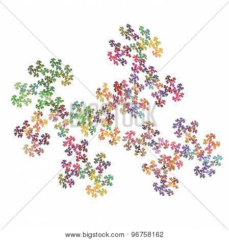 abstract puzzle pattern