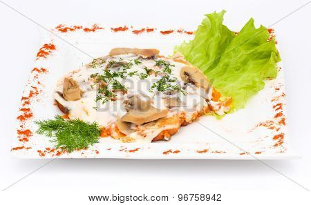 meat with mushrooms and sour cream