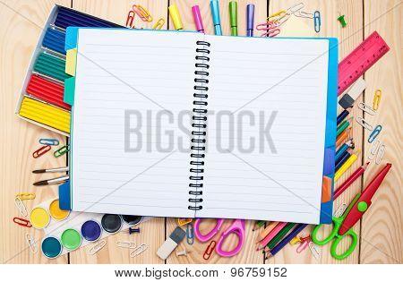 Notebook With School Supplies