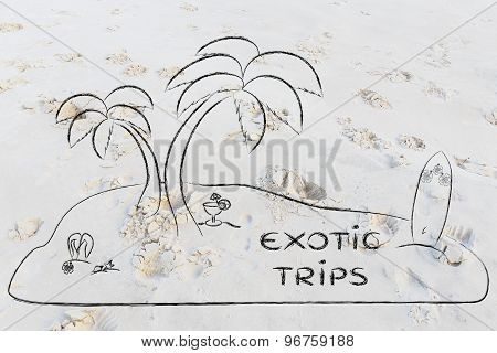 Desert Island With Text Exotic Trips