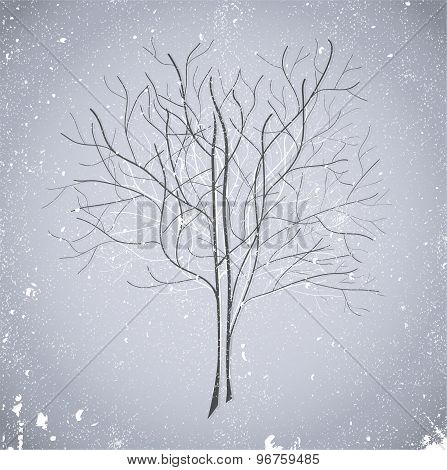 Abstract blue tree. Illustration 10 version