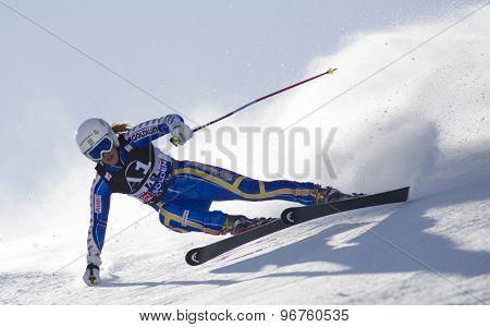 SOELDEN, AUSTRIA Oct 24 2009 KLING Kajsa (SWE)  competing in the womens giant slalom race at the Rettenbach Glacier.