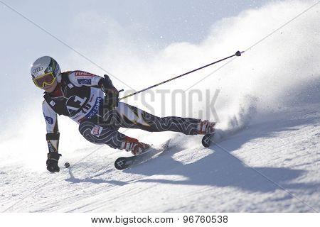 SOELDEN, AUSTRIA Oct 24 2009 LEINONEN Sanni (FIN) competing in the womens giant slalom race at the Rettenbach Glacier.