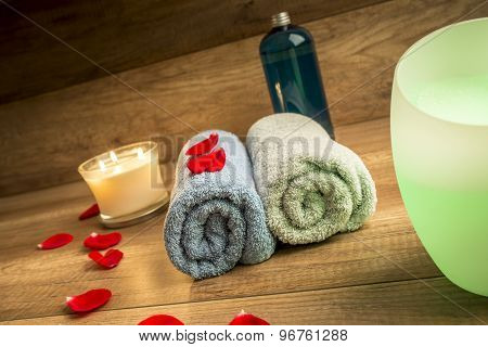 Romantic Spa Still Life Concept For A Couple