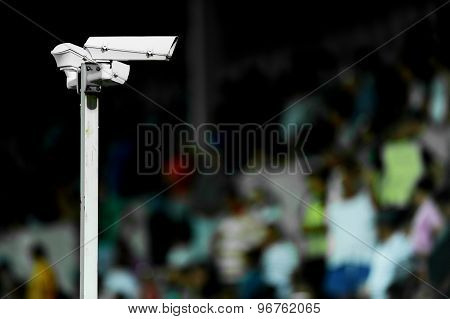 Surveillance cameras On Stadium