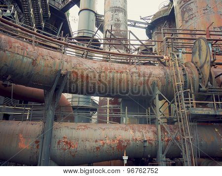 Rusty Pipes of an Abandoned Factory