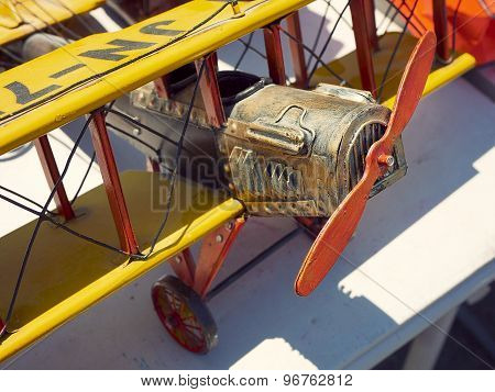 Toy Biplane and Propellors