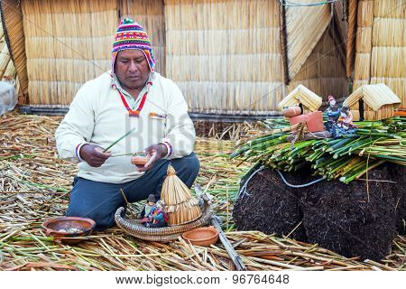 Indigenous Guide On Uros Islands