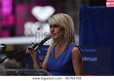 Monica Crowley in Times Square