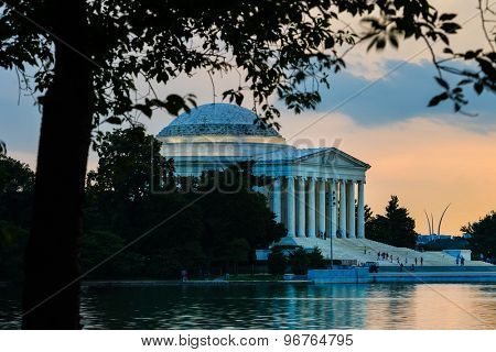 Thomas Jefferson Memorial at sunset - Washington DC, United States