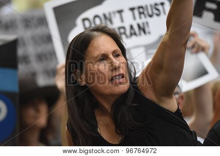 Woman at rally