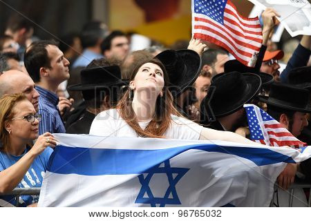 Woman with Israeli flag