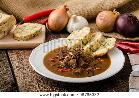 Classic Czech Goulash With Dumplings