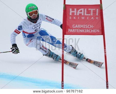GARMISCH PARTENKIRCHEN, GERMANY. Feb 17 2011: BUEHLER Anna-Laura (LIE) competing in the women's giant slalom  race  at the 2011 Alpine skiing World Championships