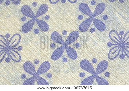 Beautiful vintage napkin floral motive background paper texture