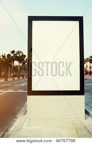 Blank billboard with copy space for your text message or content outdoors