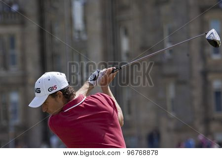ST ANDREWS, SCOTLAND. July 18 2010: Alejandro CANIZARES from Spain in action during the final round of The Open Championship   played on The Royal and Ancient Old Course