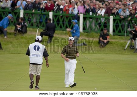 ST ANDREWS, SCOTLAND. July 18 2010: Louis OOSTHUIZEN from South Africa on his way to winning The Open Championship    played on The Royal and Ancient Old Course