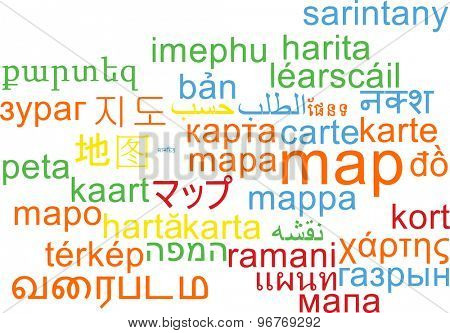 Background concept wordcloud multilanguage international many language illustration of map