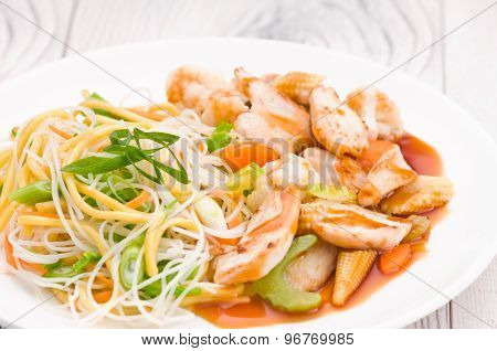 Teriyaki Chicken With Noodles
