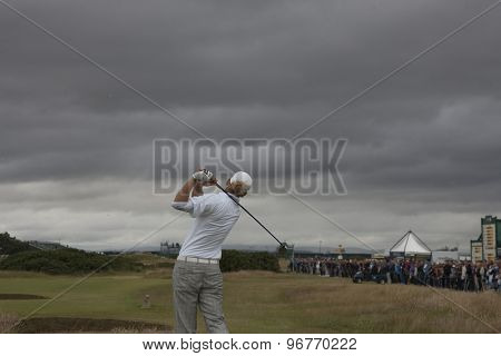 ST ANDREWS, SCOTLAND. July 18 2010: Marcel SIEM from Germany in action during the final round of The Open Championship   played on The Royal and Ancient Old Course