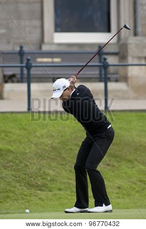 ST ANDREWS, SCOTLAND. July 17 2010: Camilo VILLEGAS from Colombia in action during the third round of The Open Championship   played on The Royal and Ancient Old Course