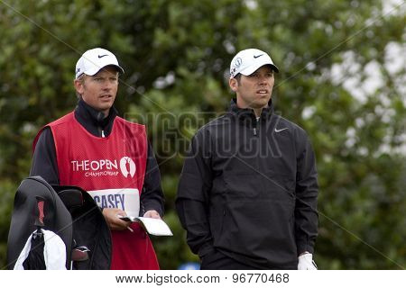 ST ANDREWS, SCOTLAND. July 16 2010: Paul CASEY from England in action on the second day of The Open Championship   played on The Royal and Ancient Old Course