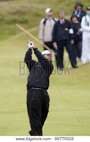 ST ANDREWS, SCOTLAND. July 16 2010: Phil MICKELSON from USA in action on the second day of The Open Championship   played on The Royal and Ancient Old Course