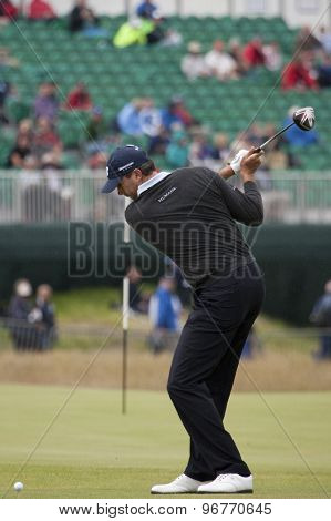 ST ANDREWS, SCOTLAND. July 15 2010: Matt KUCHAR from the USA in action on the first day of The Open Championship   played on The Royal and Ancient Old Course