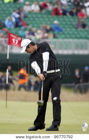 ST ANDREWS, SCOTLAND. July 15 2010: Jin JEONG from South Korea in action on the first day of The Open Championship   played on The Royal and Ancient Old Course