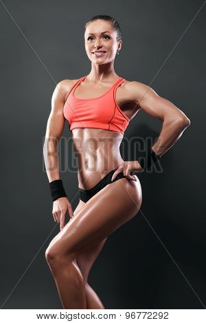 Attractive Fitness Woman Isolated With Clipping Path