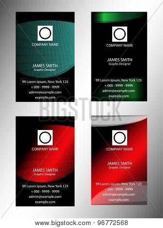 Creative Vertical Business Card set
