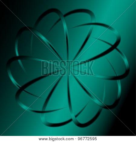Dark green circular background