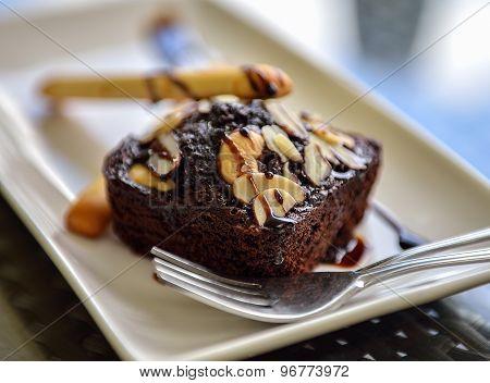 Pile Of Chocolate Brownies