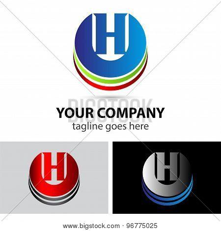 Elegant vector alphabet symbol logo letter H