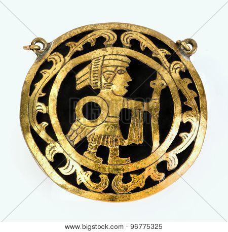 Pre Columbian Medallion.