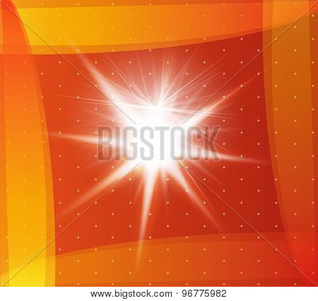 Explosion on a orange background