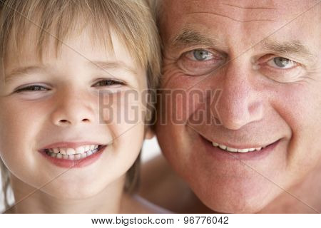 Portrait Of Grandfather And Grandson