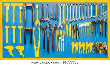 Organized Tools On Wall