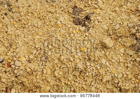 Yellow sand, abstract natural pattern
