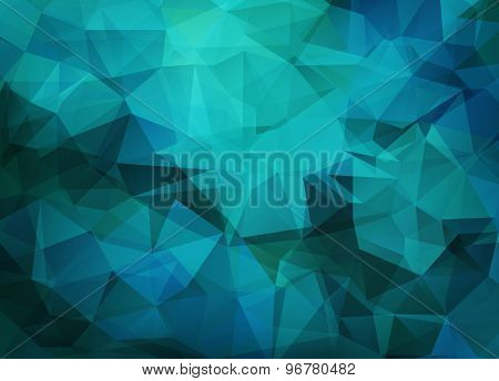Abstract Vector Background Of Triangles Polygon Wallpaper. Web Design Bright Colors