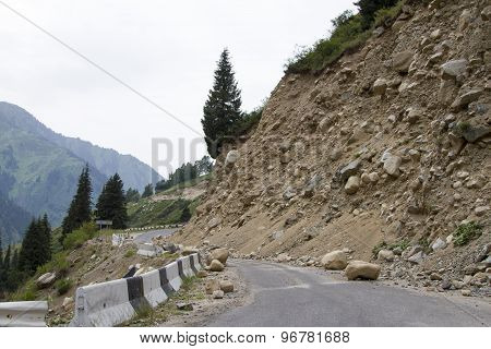 Landslide On The Mountain Road