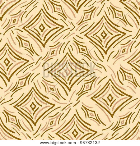 Seamless pattern abstract diamonds and stripes