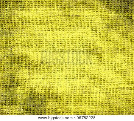 Grunge background of dandelion burlap texture