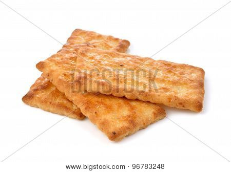 Cracker Isolated On  Over White Background
