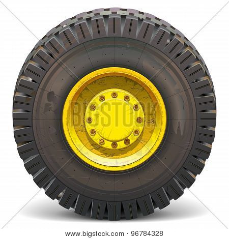 Vector Old Wheel