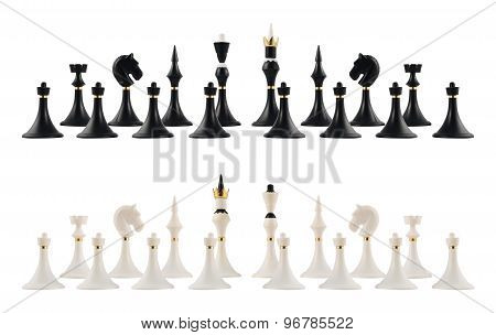 Starting chess figure setup isolated
