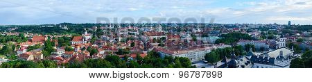 Vilnius, Panoramic View Of Old Town