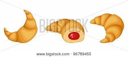 Croissants. Vector illustration.