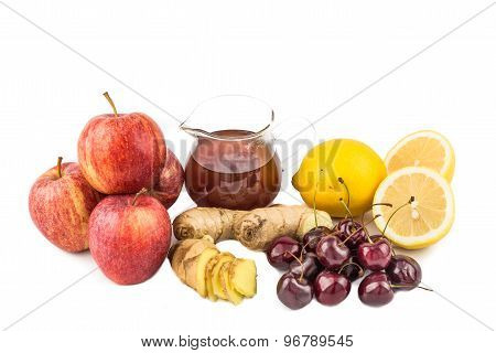 Common home remedy to treat gout inflammation - Cherries, Lemon Juice, Apple Cider Vinegar, Ginger R